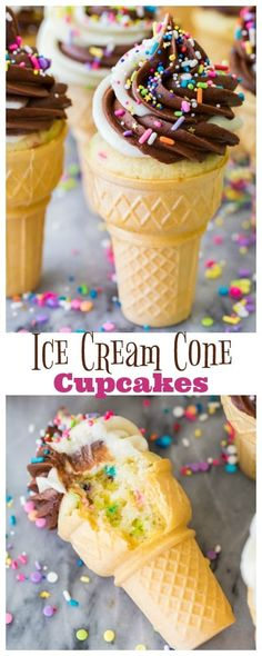 Chocolate Ice Cream Cone, Ice Cream Cone Cake, Ice Cream Cupcakes, Ice Cream Party, Ice Cream Birthday Cake, Birthday Cupcakes, Party Cupcakes, Ice Cream Cookies, 5th Birthday