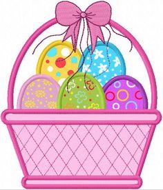 Easter Eggs Applique Machine Embroidery Design NO:1110. $2.99, via Etsy.