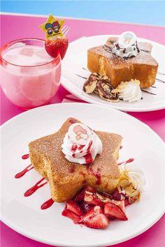Twin Stars Pop-up Cafe Bites Cafe @ Langham Place Hong Kong ★ Japanese Pastries, Japanese Sweets, Cute Food, Good Food, Pop Up Cafe, Dessert Recipes, Desserts, Dessert Ideas, Kawaii Dessert