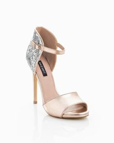 <3 these dazzling shoes in Rose Gold Metallic & Glitter Back Detail!  Actually on sale right now for $40