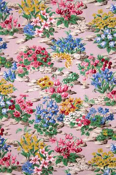 : The Prettiest 1940s Rockery Garden Fabric