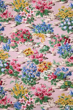 : The Prettiest 1940s Rockery Garden Fabric