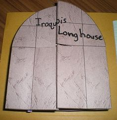 how to make a longhouse out of paper