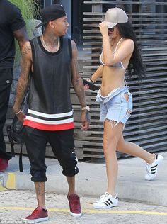 Kylie Jenner and beau Tyga look tense in St Barts #dailymail