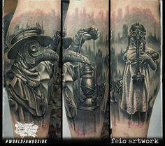 60 Plague Doctor Tattoo Designs For Men – Manly Ink Ideas Tattoo Tod, Death Tattoo, Mask Tattoo, Leg Sleeve Tattoo, Chest Tattoo, Neue Tattoos, Body Art Tattoos, Tatoos, Plague Doctor Tattoo