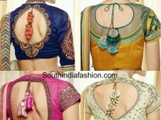 Latest Blouse Designs with tassels  #blousedesign #indianblouse #bridalblouse