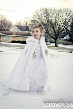 flower girl in winter wedding - Google Search