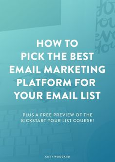 Picking the platform that your email list will live on is truly the foundation of a great list. If you're just getting started or second guessing the platform that you're on, click through to check out the three most important things to consider when picking your email marketing platform!