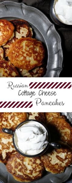 Called Syrniki in Russian, these pancakes are great for breakfast or dessert! Full recipe at tastymistakes.com!