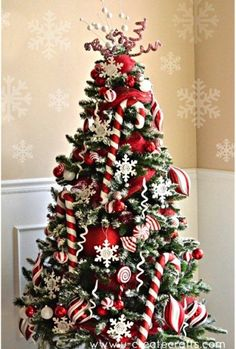 Red, and White Candy Tree