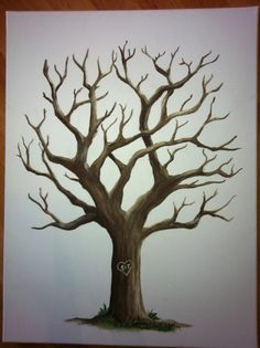 What a fantastic idea for a guest book.  People make their thumb print into a leaf and then sign their name below. I think I am gonna start practicing my trees and make one for our wedding.  Custom Fingerprint Tree Guestbook 18x24 by HuxleyDesigns on Etsy, $70.00