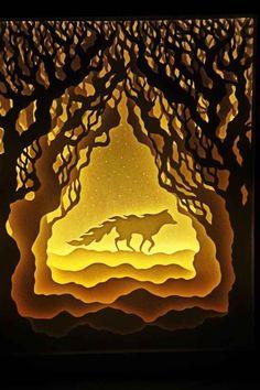 Paper cutting lightbox by Harikrishnan Panicker