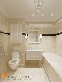 Фото: Дизайн ванной комнаты - Интерьер квартиры в классическом стиле в ЖК «Времена года», 61 кв.м.