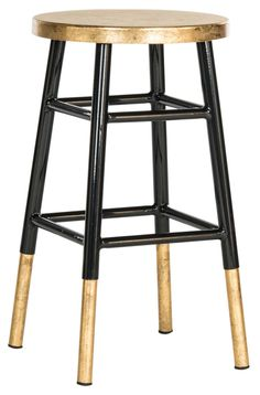 Gabriel Counterstool Black/Gold - Safavieh - $127 - domino.com
