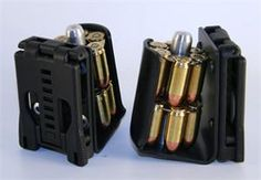 North Mountain Moon Clip Holder is made with the competitive revolver shooter in mind.  It was specifically designed for use in IPSC/USPSA and ICORE competition.  With the 4 post configuration weighing in at less than 12 oz. ~$45