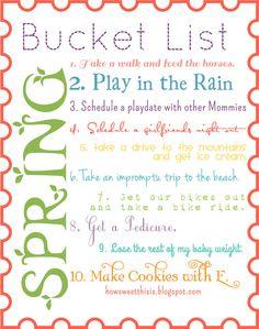 Spring Bucket List!