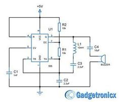 Building a simple metal detector circuit using IC 555 and buzzer. circuit design and schematic diagram to build metal detector that could detect metals Metal Detectors For Kids, Garrett Metal Detectors, Whites Metal Detectors, Electronic Engineering, Electrical Engineering, Diy Electronics, Electronics Projects, Arduino, Underwater Metal Detector