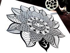 Lotus Mandala Time-Lapse Drawing