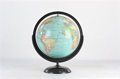 Vintage globe black globe vintage black globe old globe desk hunt to travel is to live love by fedradd on etsy gumiabroncs Images