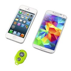 Hapurs Bluetooth Wireless Remote Control Camera Shutter Release Self Timer for iPhone 5S 5C 5 4S 4, iPad Air Mini, Samsung Galaxy S5 S4 S3 Note Tab, Google Nexus, HTC, Sony and other iOS Android Phones - Green