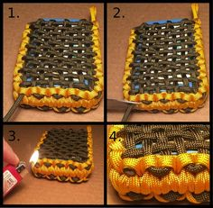 The best paracord pouch i've seen. Example fits an altloids tin. Picture of Finalizing Your Pouch