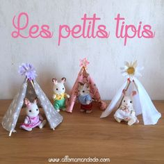 DIY: Teepee minis for Sylvanians and other little figures! (Pattern to print) – Allo Maman Dodo - Diy Teepee, Sylvanian Families House, Diy For Kids, Crafts For Kids, Family Crafts, Calico Critters Families, Muñeca Diy, Small Figurines, Building For Kids