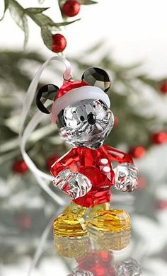 Swarovski Crystal Christmas Ornament MICKEY MOUSE #5004690 New - Zhannel  - 1