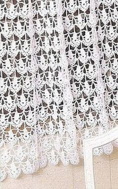 Crochet Curtain w. Filet Crochet, Crochet Diagram, Crochet Art, Thread Crochet, Love Crochet, Beautiful Crochet, Crochet Crafts, Crochet Doilies, Crochet Projects