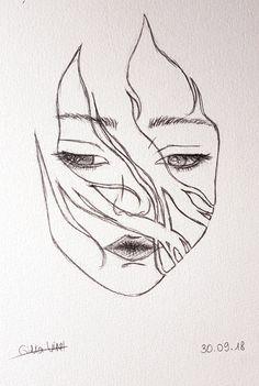 Pencil Drawing Tutorials Thinking. Dark Art Drawings, Pencil Art Drawings, Art Drawings Sketches, Easy Drawings, Art Illustrations, Pencil Drawing Tutorials, Art Tutorials, Drawing Ideas, Drawing Tips