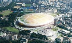 Japan's Sport Council on Tuesday unveiled the 11 potential designs for its new national stadium, the first-round cut of an international competition chaired by architect Tadao Ando. Tadao Ando, Un Studio, National Stadium, Toyo Ito, Zaha Hadid Architects, Rugby World Cup, Design Competitions, Japan, Environment Design