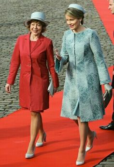 Daniela Schadt & Queen Mathilde During Belgium 's Welcoming Of Germany On A State Visit, March 8, 2016.