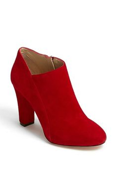 Love the red!  Carolinna Espinosa 'Cynthia' Bootie available at #Nordstrom