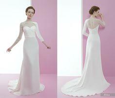 Elcira #miquelsuay #bridalcollection Bridal Collection, Wedding Dresses, Fashion, Confident Woman, Curves, Princess, Bridal Gowns, Boyfriends, Women
