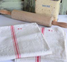 Country Club Vintage Ustensiles Torchons Cuisine Dish Cloth Coton Imprimé Rétro