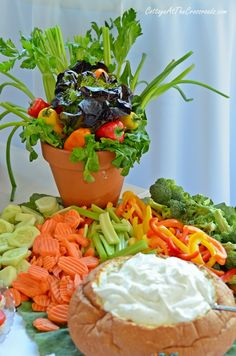 Veggie Tray and Centerpiece