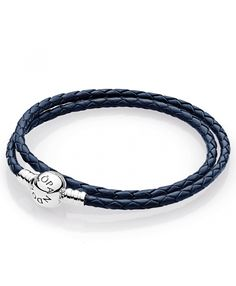 leather - buy fabulous pandora bracelets unique moments, leather, rose gold and silver designs, up to off all the latest must have looks! Pandora Uk, Cheap Pandora, Pandora Leather, Leather Charm Bracelets, Pandora Bracelet Charms, Dark Blue, Rose Gold, Jewels, Silver