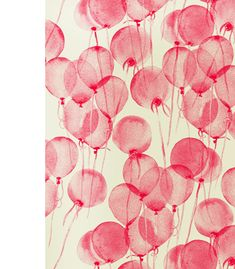 beautiful red balloons (textile design) by Leah Bartholomew & Beth Orpin via the design files