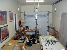 Convert Garage To Studio upcycle home design: small art studio make over (second