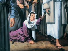 Touch of Faith by Simon Dewey ~ woman cured after touching hem of Jesus' garment