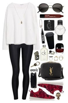 """""""Untitled #345"""" by clary94 ❤ liked on Polyvore featuring Ally Fashion, NIKE, Yves Saint Laurent, NYX, Zara, Daniel Wellington, Marc Jacobs, Iosselliani, Calvin Klein and Ardency Inn"""