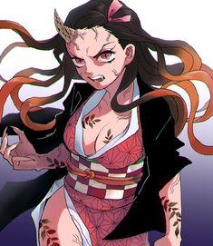 Read Kimetsu No Yaiba / Demon slayer full Manga chapters in English online! Manga Anime, Anime Demon, Manga Art, Demon Slayer, Slayer Anime, Kawaii Anime Girl, Anime Art Girl, Female Characters, Anime Characters