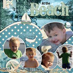 At the Beach - Digi Seaside Summer