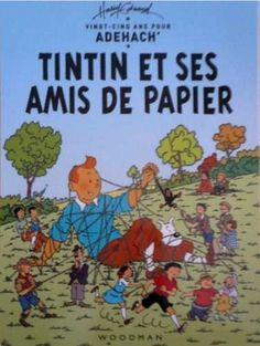 Tintin et ses amis de papier...........SOURCE SWAPMEETDAVE.COM.......