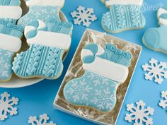 Royal Icing Cookies, Sugar Cookies, Cookies Et Biscuits, Christmas Stocking Cookies, Christmas Stockings, Pink Icing, Custom Cookie Cutters, Dessert Decoration, Cookie Gifts