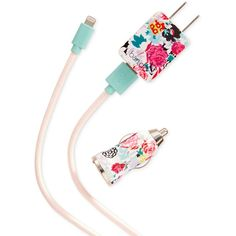 ban.do Florabunda Power Trip Wall and Car Charger for iPhone ($32) ❤ liked on Polyvore featuring accessories, tech accessories and floral