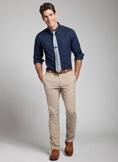 Khaki Pants Outfit Men