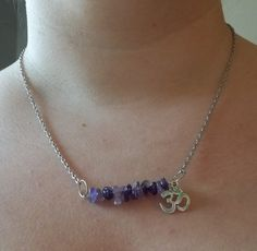 Amethyst & Om Necklace by CellDara on Etsy
