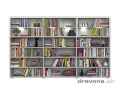 knižnica veľká - drevona