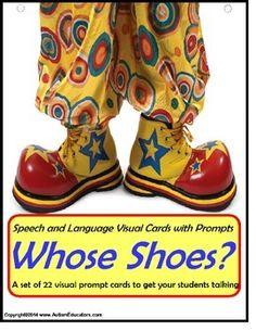 Autism: Autism Speech & Language Picture Prompts WHOSE SHOES