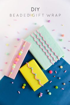 Adding beads to any gift wrap can make your present unique and fun. Learn how to make these with this DIY beaded gift wrap tutorial.